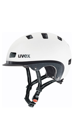 UVEX city 5 Helm white metallic mat